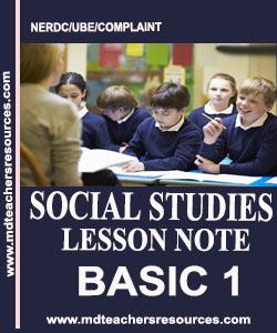 Primary 1 Social Studies Note