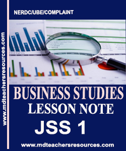 Business Studies Lesson Note for Jss1