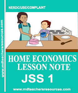 Home economics JSS1